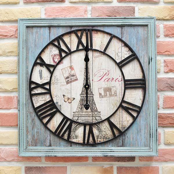 BnH 에펠탑 빈티지 인테리어 벽시계 CL_OMDM50845